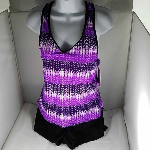 6a48785ac7b5a Gerry Swim | Nwt Womens Purple Black Orchid 2p Suit M | Poshmark